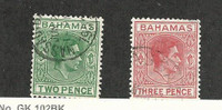 Bahamas, British, Postage Stamp, #155-156 Used, 1951-56