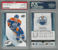 2013 Upper Deck Ice Hockey, #34 Taylor Hall, Oilers, PSA 10 Gem