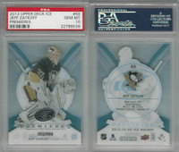 2013 Upper Deck Ice Premieres Hockey, #69 Jeff Zatkoff, Penguins, PSA 10 Gem