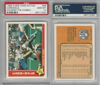 1985 Fleer Team Action Football, #69 Cardinals, Causing the Fumble, PSA 10 Gem