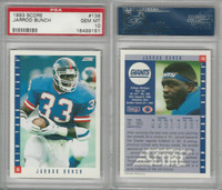 1993 Score Football, #136 Jarrod Bunch, Giants, PSA 10 Gem