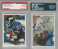 1994 Fleer Football, #337 Jarrod Bunch, Giants, PSA 10 Gem