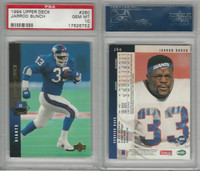 1994 Upper Deck Football, #260 Jarrod Bunch, Giants, PSA 10 Gem