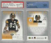 2002 Upper Deck Graded Football, #144 Antwaan Randle El, Steelers, PSA 10 Gem