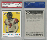2005 Topps Heriage Football, #10 Michael Vick, Falcons, PSA 10 Gem