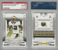2009 Panini Playoff Prestige Football, #62 Marques Colston, Saints, PSA 10 Gem