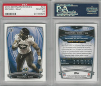 2014 Bowman Rookies Football, #24 Michael Sam, Rams, PSA 10 Gem