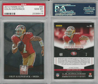 2014 Panini Elite Football, #80 Colin Kaepernick, 49ers, PSA 10 Gem