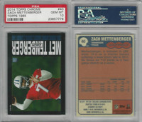 2014 Topps Chrome 1985 Football, #40 Zach Mettenberger, Titans, PSA 10 Gem