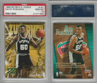 1996 Skybox Z-Force Basketball, #191 David Robinson, Spurs, PSA 10 Gem
