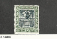 Barbados, Postage Stamp, #103 WMK1 Mint Hinged, 1906