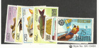 Barbuda, Postage Stamp, #22-25, 29-31 Mint Hinged, 1968-70 Fish, Olympics