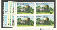 Barbuda, Postage Stamp, #170-175, 178-181 Blocks Mint NH, 1974-5