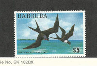 Barbuda, Postage Stamp, #186 Mint Hinged, 1974 Birds