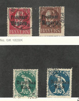 Bavaria (Germany), Postage Stamp, #196, 202, 263, 265 Used, 1919-20