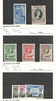 Bechuanaland, Postage Stamp, #147, 153, 154-6, 166-8 Mint NH, 1948-60