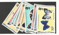 Belize, Postage Stamp, #345-356 Mint NH, 1974-77 Butterflies