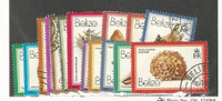 Belize, Postage Stamp, #471-487 Used, 1980 Shells