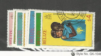 Belize, Postage Stamp, #490-497 Used, 1980 Year of Child