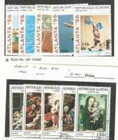 Benin, Postage Stamp, #829-33, 836-41 Used, 1996 Sports, Christmas