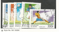 Benin, Postage Stamp, #966-970 Used, 1997 Soccer Football