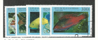Benin, Postage Stamp, #1047-1051 Used, 1997 Fish