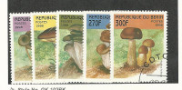 Benin, Postage Stamp, #1055-1059 Used, 1998 Mushrooms