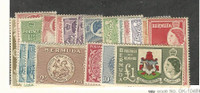 Bermuda, Postage Stamp, #143-162 Mint Hinged Set, 1953-58