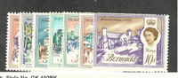 Bermuda, Postage Stamp, #175-177, 180-182A Mint NH, 1962-65