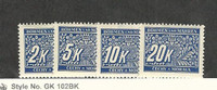 Bohemia & Moravia (Germany), Postage Stamp, #J11-J14 Mint NH, 1939