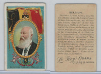 T98 LeRoy Cigars, Rulers of the World, 1900 Flag, Belgium, King Leopold II