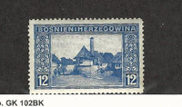 Bosnia & Herzegovina, Postage Stamp, #62 Mint Hinged, 1912
