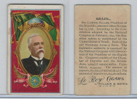 T98 LeRoy Cigars, Rulers of the World, 1900 Flag, Brazil, Dr. Campos