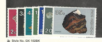Botswana, Postage Stamp, #115//124 (7 Different) Mint NH, 1974 Rocks