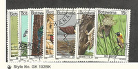 Botswana, Postage Stamp, #198-202, 204-205 Used, 1978 Birds