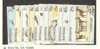 Botswana, Postage Stamp, #405//423 (12 Different) Used, 1987 Animals