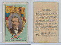 T98 LeRoy Cigars, Rulers of the World, 1900 Flag, Ecuador, Alfaro