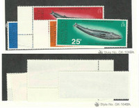 British Antarctic, Postage Stamp, #64-67 Mint NH, 1977 Whales