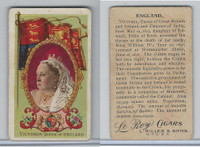 T98 LeRoy Cigars, Rulers of the World, 1900 Flag, England, Queen Victoria