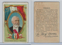 T98 LeRoy Cigars, Rulers of the World, 1900 Flag, France, E. Loubet
