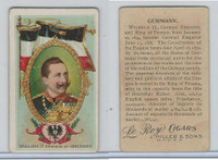 T98 LeRoy Cigars, Rulers of the World, 1900 Flag, Germany, William II