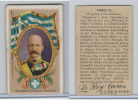 T98 LeRoy Cigars, Rulers of the World, 1900 Flag, Greece, George I