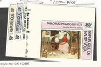 Burkina Faso, Postage Stamp, #372-4, C220-1 Imperf Mint NH, 1975 Picasso