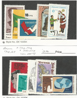 Brazil, Postage Stamp, #1106-8, 1110-11, 1112-3, 1115-7 Mint NH, 1968-69