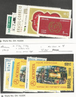 Brazil, Postage Stamp, #1118-1123, 1132, 1137, 1139-40 Mint NH, 1969