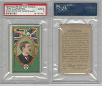 T98 LeRoy Cigars, Rulers of the World, 1900, Queensland, PSA 2 Good
