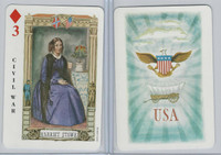 1973 US Games, American Historical Cards, Diamond 3, Harriet Stowe