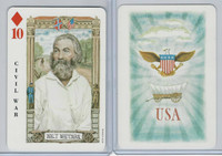 1973 US Games, American Historical Cards, Diamond 10, Walt Whitman