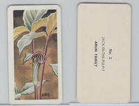 FC34-4 Brook Bond, Wild Flowers NA, 1961, Printer Proof, #2 Jack-In-The-Pulpit