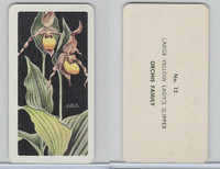 FC34-4 Brook Bond, Wild Flowers NA, 1961, Printer Proof, #12 Lady's Slipper